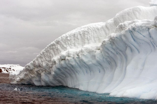 Collins Glacier in King George Island, Antarctica.