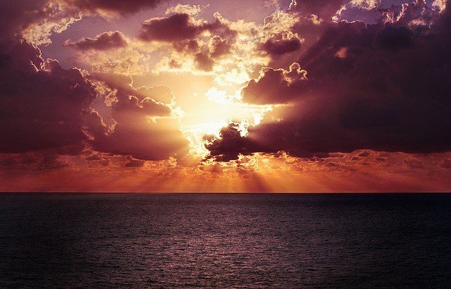 horizon-sky-sunset-ocean-water