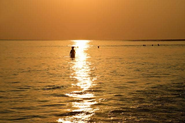 Sunset on a beach in Andaman